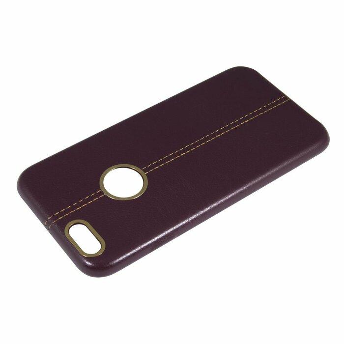 NOMAD Excellent Leather Back Case Aizmugurējais Apvalks Priekš Samsung G935 S7 Edge Ķiršu krāsā