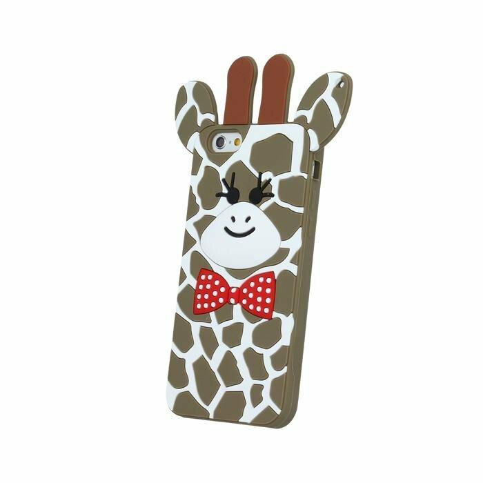 Mocco 3D Silikona Aizmugurējais Apvalks Žirafe iPhone 7 Brūns