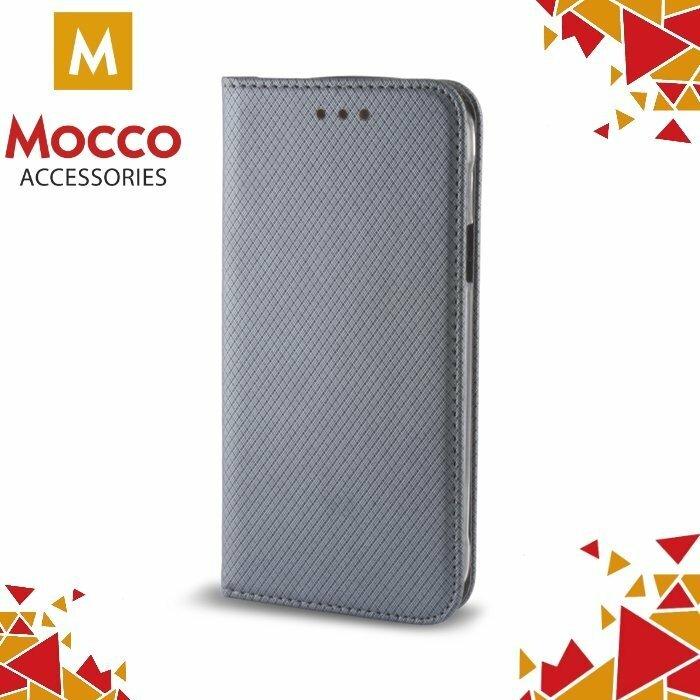 Mocco Smart Magnet Book Case Grāmatveida Maks Samsung A720 Galaxy A7 (2017) Pelēks