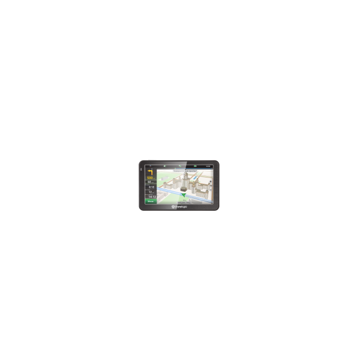 "Prestigio GeoVision 5058 (5.0"", TFT, 480х272, Win CE 6.0, CPU 800 MHz, 128 MB RAM, 4 GB, FM, 950 mAh, Black, Metal frame, Navitel, preinstalled maps) 2 years free map update"