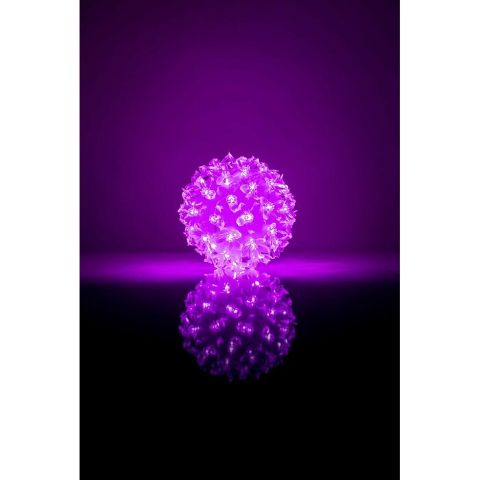 - Bumba ar puķēm RS-208 50LED D-11cm  Purple