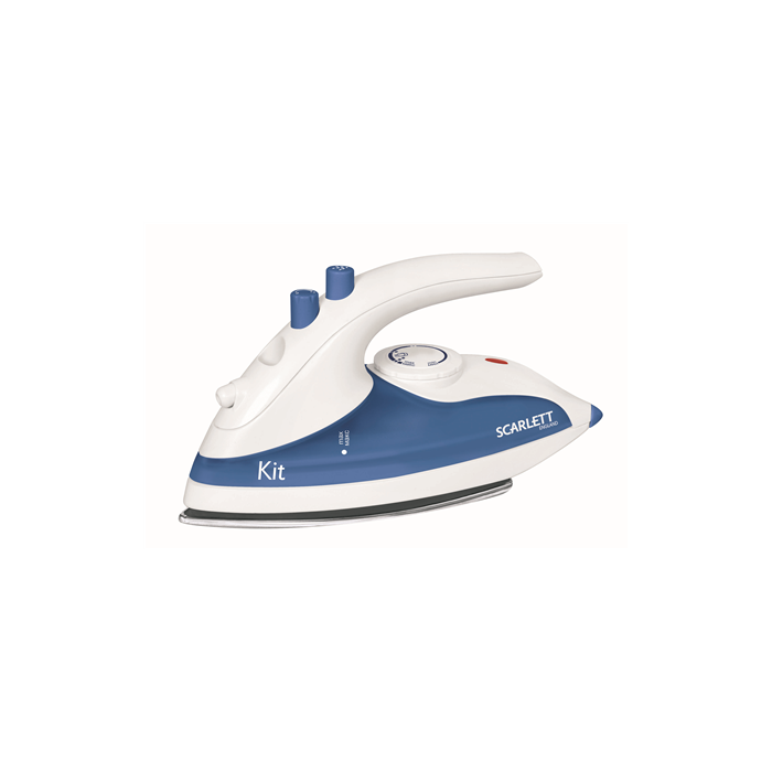 Scarlett Iron SC-1135S  White/ blue, 800 W, Traveling, Continuous steam 10 g/min, Water tank capacity 70 ml