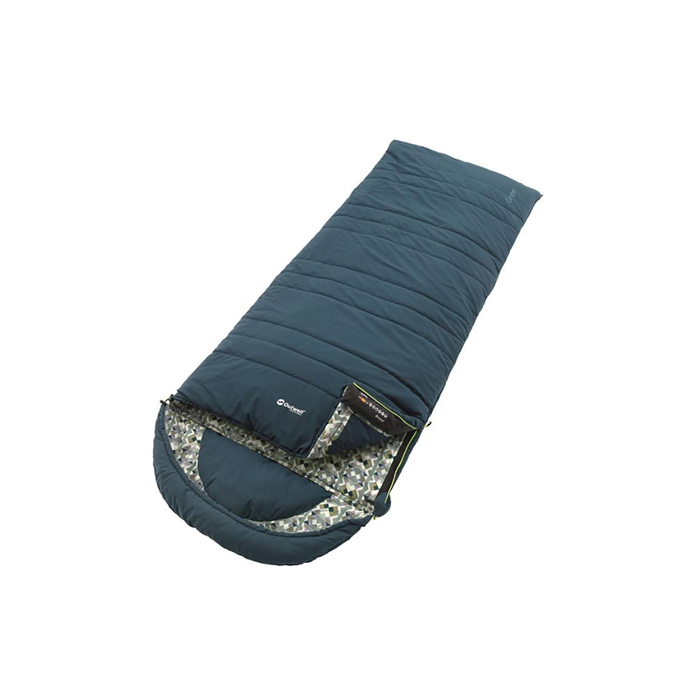 Outwell Camping Sleeping Bag, 235 x 90 cm, -15/15 °C, Blue