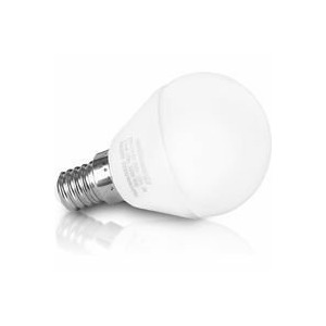 Whitenergy LED bulb | 6xSMD2835| C37L| E14 | 3W | 230V |warm white| milky