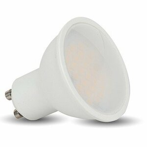 Whitenergy LED bulb | GU10 | 6 SMD 2835 | 3W | 230V | milky | MR16