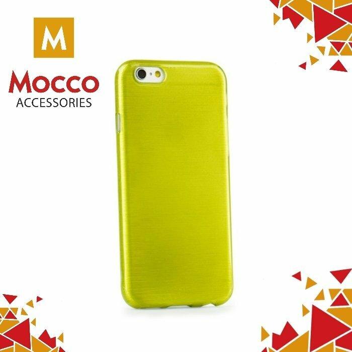 Mocco Jelly Brush Case Aizmugurējais Silikona Apvalks Priekš Samsung G935 Galaxy S7 Edge Zaļš