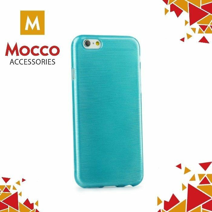 Mocco Jelly Brush Case Aizmugurējais Silikona Apvalks Priekš Samsung G930 Galaxy S7 Zils