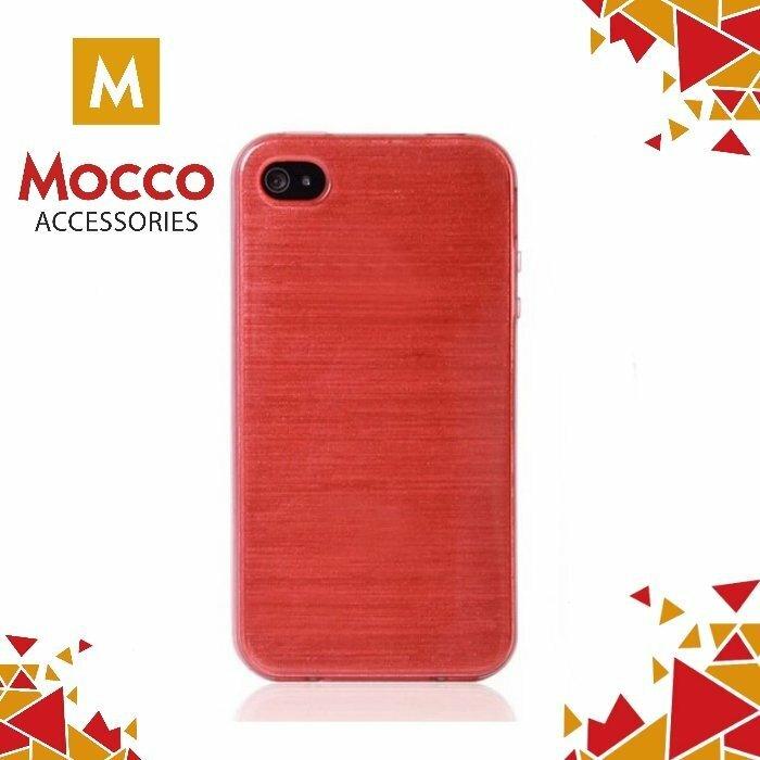Mocco Jelly Brush Case Aizmugurējais Silikona Apvalks Priekš Samsung G930 Galaxy S7 Sarkans