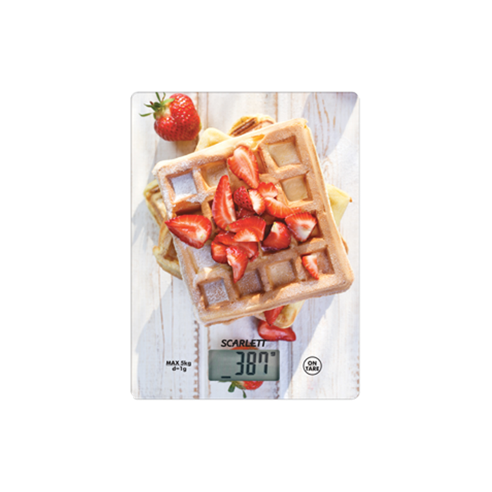 Scarlett Kitchen scale SC - KS57P16 Maximum weight (capacity) 5 kg, Graduation 1 g, Display type LCD, Multicolour