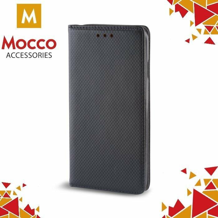 Mocco Smart Magnet Book Case Grāmatveida Atverams Maks Telefonam Huawei Y7 Melns