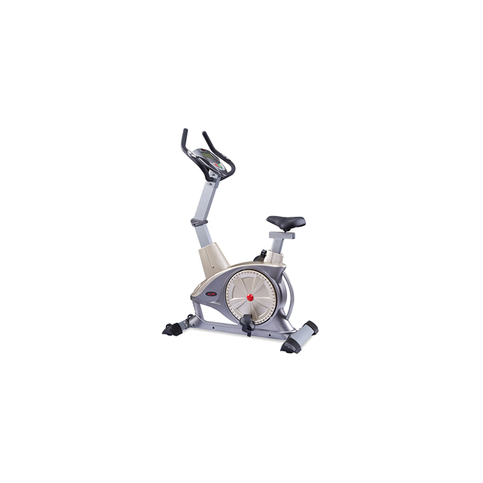 WNQ F1-7318LC Semi-Commercial Upright Bike, 130 kg, Silver Grey, 5 '' LCD blue screen, 10 exercise modes: Manual; Interval; Fluctuation; Weightlessness; Inclination running; Climbing; Fat burning; Racing; User-defined 1; User-defined 2