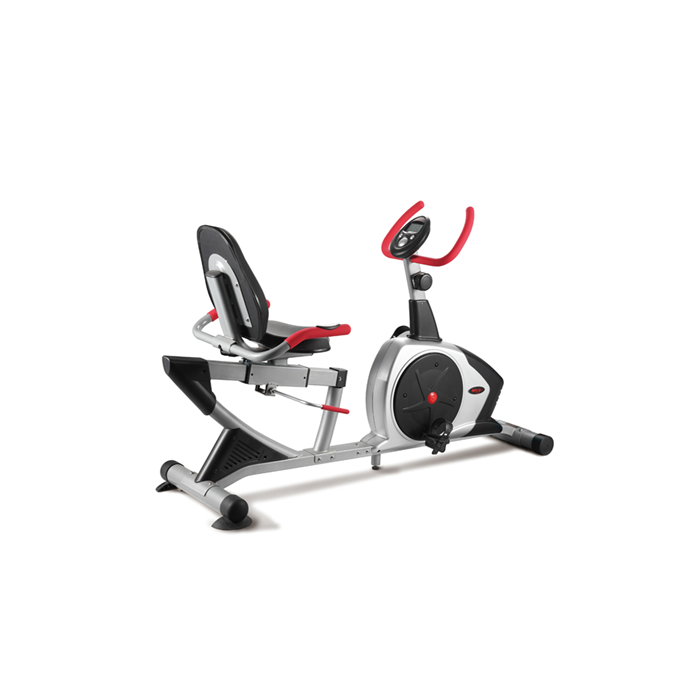 WNQ 3318WA Fashion Residential Recumbent Bike, 8 Resistance Levels, 110 kg, Silver/Black, LCD display