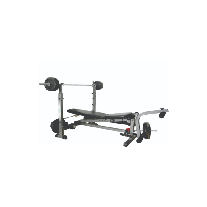 WNQ 518GA 5-Ways Weight Lifting Bench, Multi Function: training leg, chest, arm, abdomen together, Black