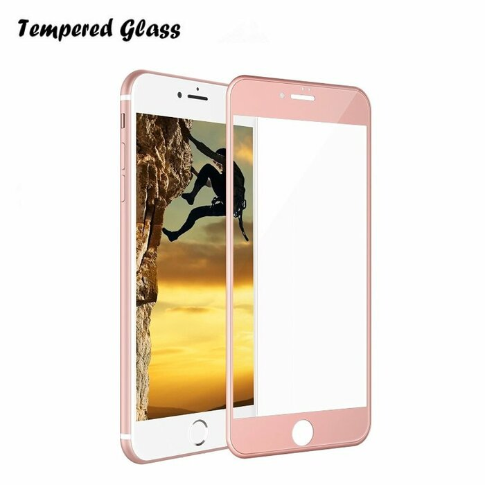Tempered Glass Extreeme Shock Aizsargplēve-stikls Apple iPhone 7 4.7inch Pilna ekrāna Rozīgi zeltains (EU Blister)