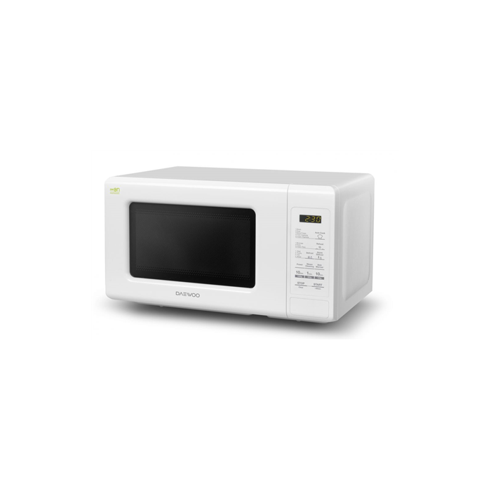 DAEWOO KQG-661BW 20 L, Grill, Electronic, 700 W, White, Microwave oven with Grill, Defrost function