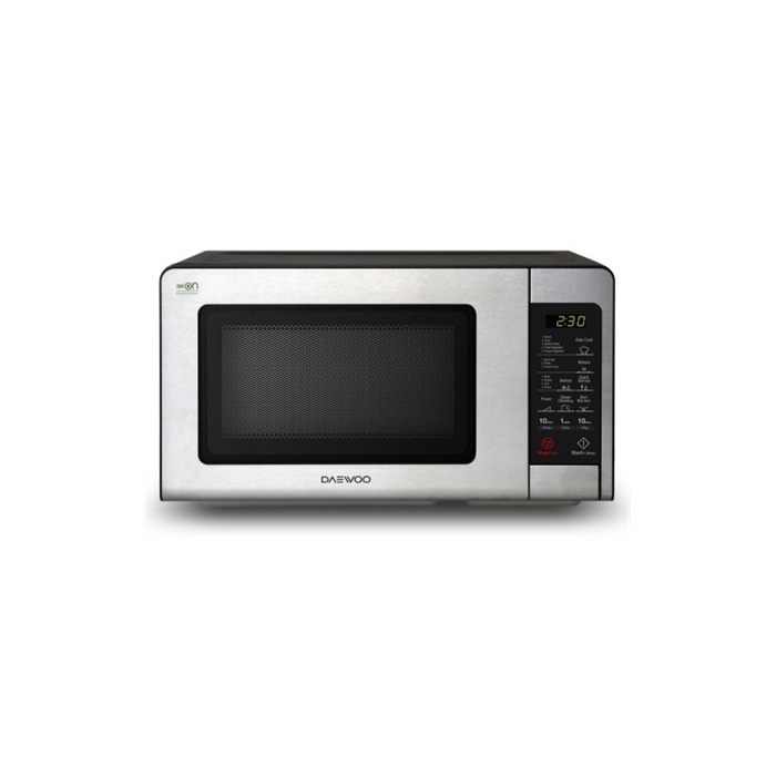 DAEWOO Microwave oven KQG-664BB 20 L, Grill, Touch control, 700 W, Stainless steel/Black, Microwave oven with Grill, Defrost function