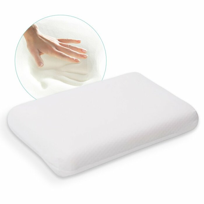 EcoSapiens Orthopedic Fresh Sleep Pillow with Gel and Memory Foam, Cosmetology Cooling Effect, 60X40Х13 cm