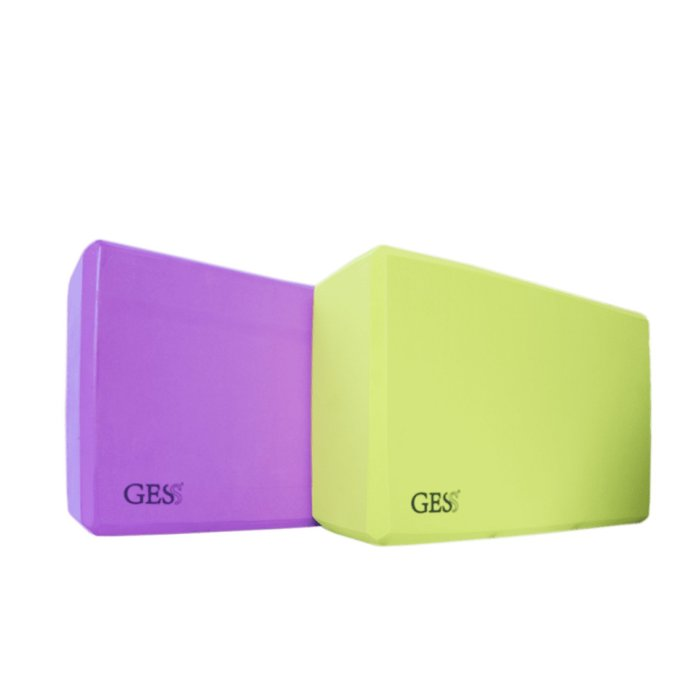 GESS Eva Set Yoga Blocks (Set of 2) for Poses Support and Balance, Durable Eva Foam