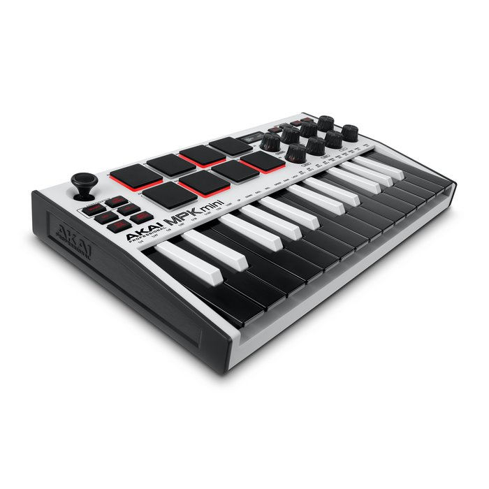 AKAI MPK Mini MK3 MIDI kontrolieris (balts)