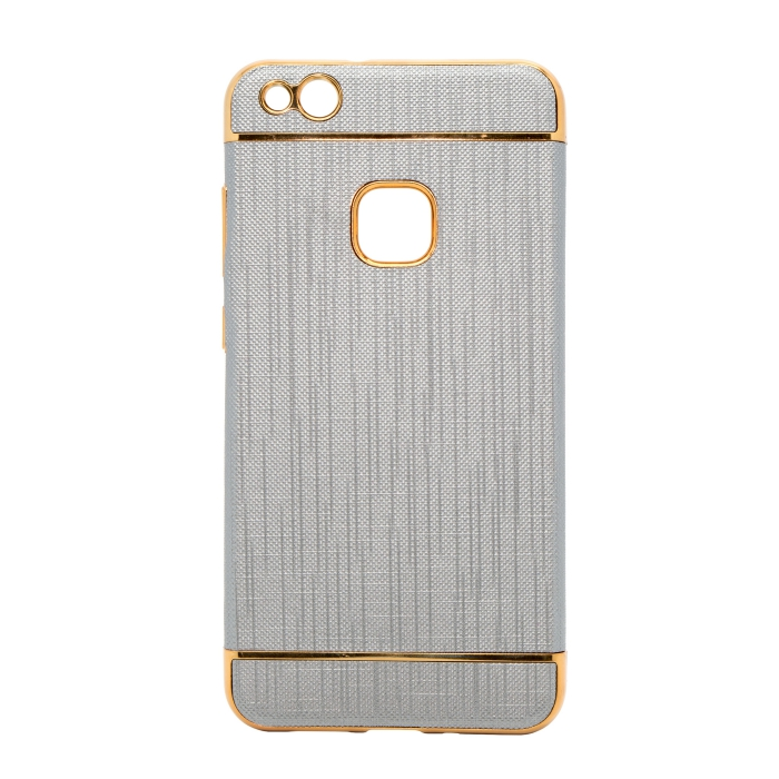 Mocco Exclusive Crown Back Case Silicone Case With Golden Elements for Samsung J330 Galaxy J3 (2017) Grey