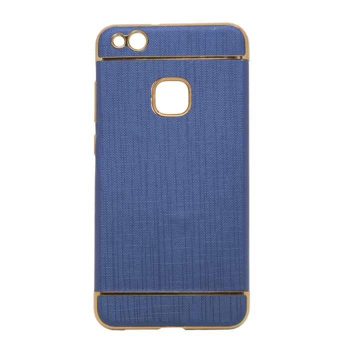 Mocco Exclusive Crown Back Case Silicone Case With Golden Elements for Samsung J330 Galaxy J3 (2017) Dark Blue