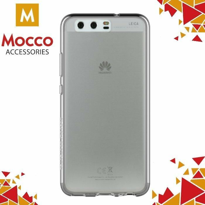 Mocco Ultra Back Case 0.3 mm Aizmugurējais Silikona Apvalks Priekš Huawei P9 Lite Caurspīdīgs-Melns
