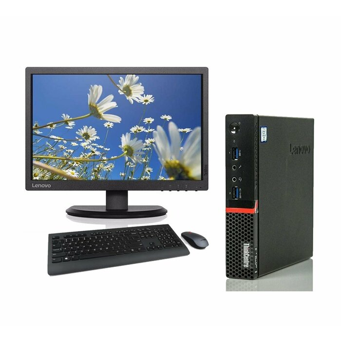 "Komplekts Lenovo ThinkCentre M700 Intel® Core™ i5, 16GB RAM, 480GB SSD, Windows 10 Pro + Monitors Lenovo 23"" FHD + Tastatūra un Pele (Garantija 24.mēn.)"