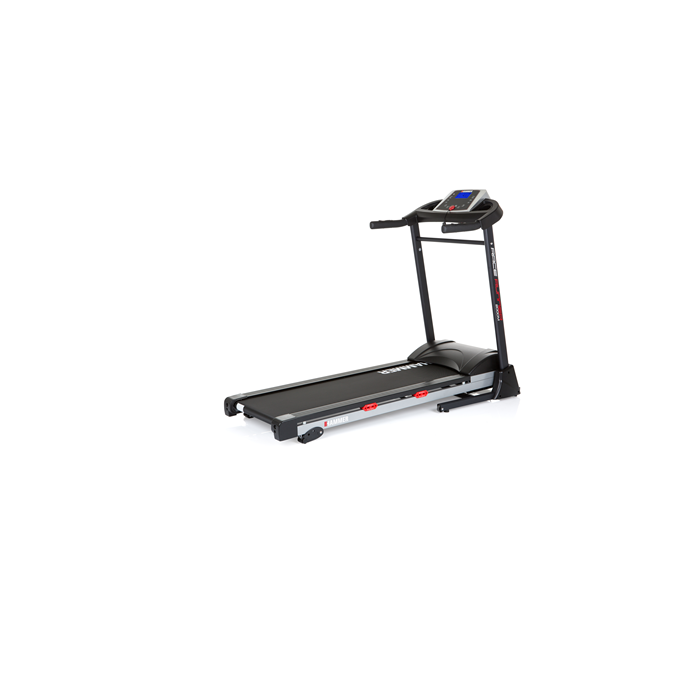 Hammer 2000M Race Runner Treadmill, 110 kg, 2 HP, Black/Silver/Red, LCD-Display