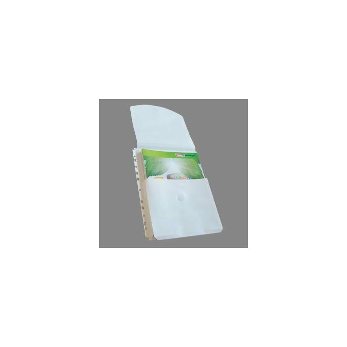 Kabatas A4 ar atloku,  ietilpība līdz 200 lap.,  10gab. balta