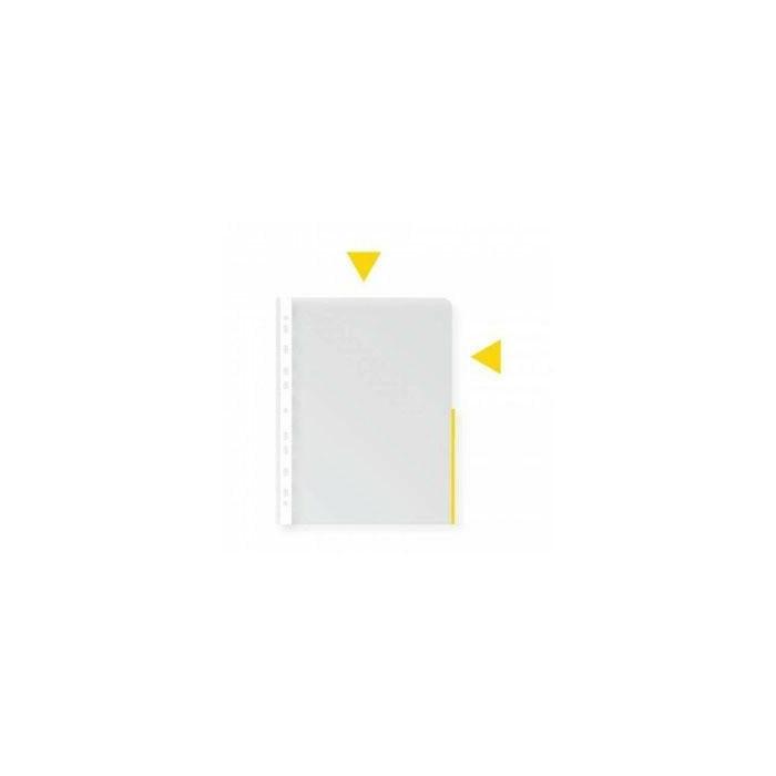 Кармашки A4 College с  с жёлтым краем