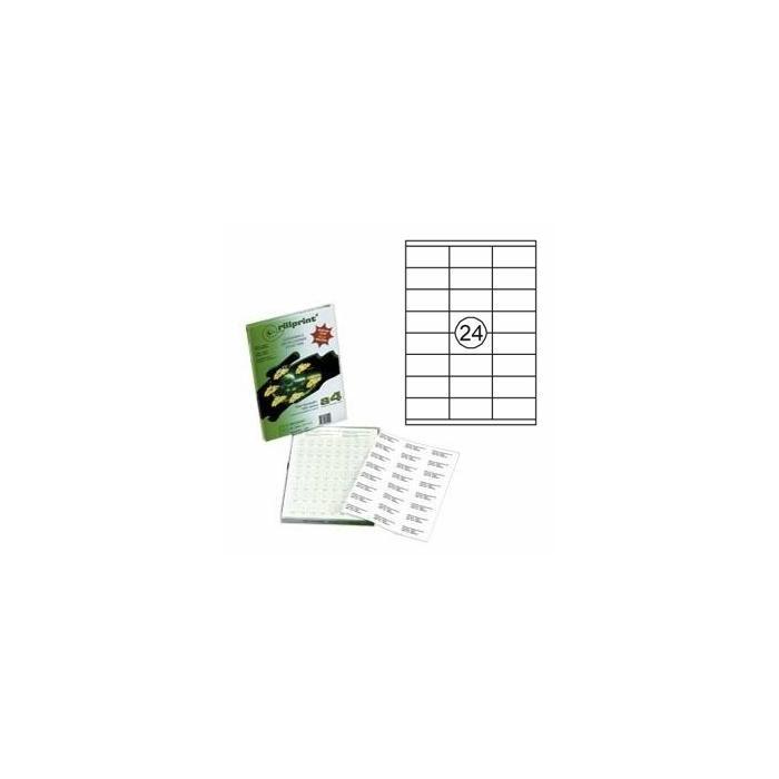 Uzlīmes Rillprint 70x35mm 100 loksnes A4 formāta,  Rillstab