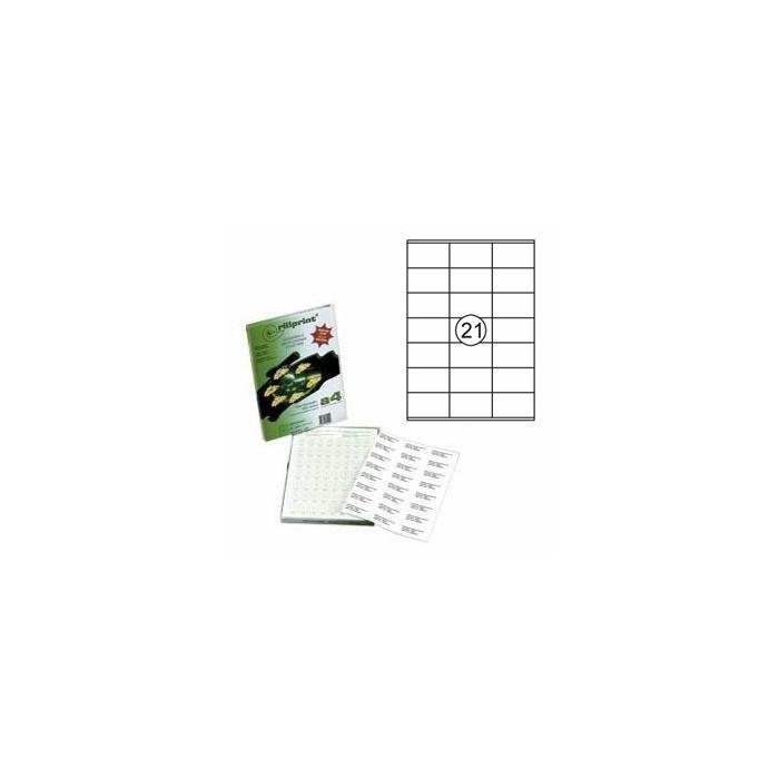 Uzlīmes Rillprint 70x41mm 100 loksnes A4 formāta,  Rillstab