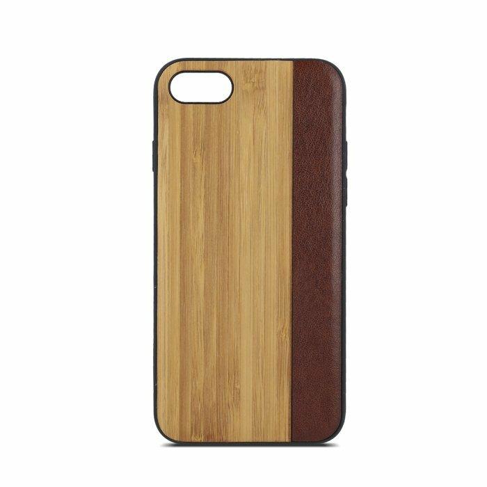 Beeyo Wooden Wave Aizmugurējais Silikona Apvalks Ar Koka Dizainu priekš Apple iPhone 5 / 5S / SE No.2