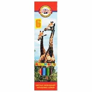 Zīmuļi krāsainie 6 krāsas,  Animals,  KOH-I-NOOR