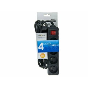 Whitenergy 08405 4AC outlet(s) 220-250V 3m Black surge protector