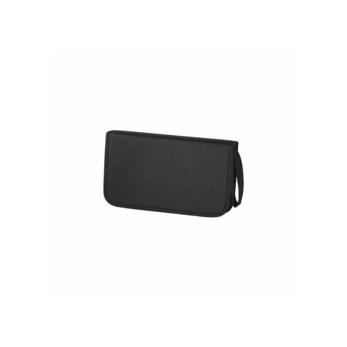 Maciņš Hama 64 diskiem, wallet nylon melns