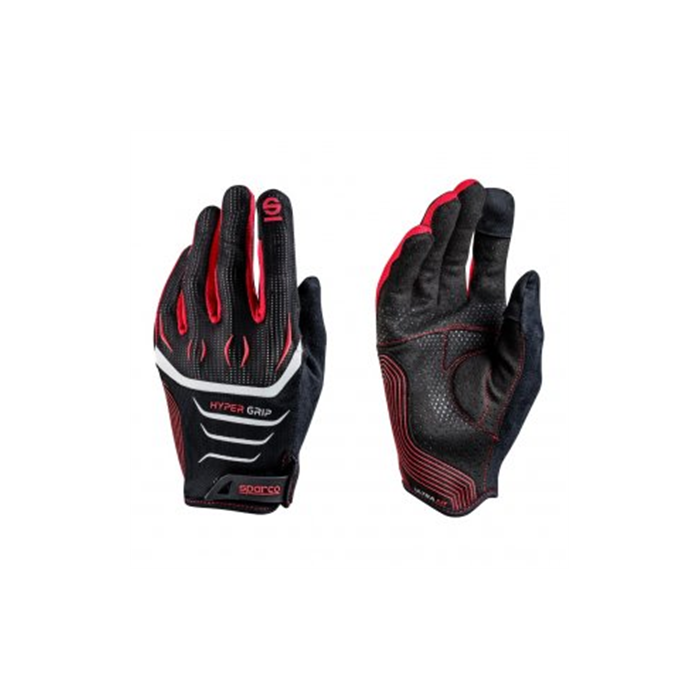 Sparco Gaming glove, Hypergrip, Black/Red, 8