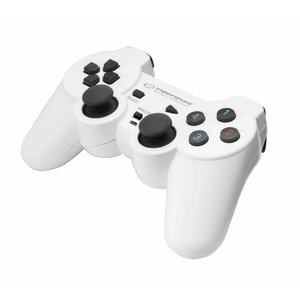 ESPERANZA EGG102W WARRIOR - VIBRATION GAMEPAD FOR PC COMPUTERS - WHITE/BLACK