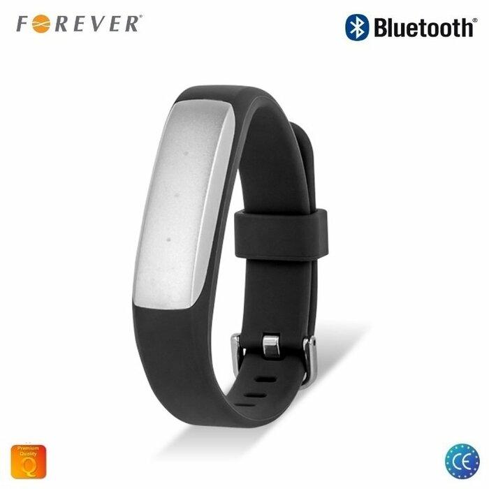 Forever SB-110 Fitnesa Aproce - Smart Aproce Miega Monitors Pedometrs ar Vibrācijas paziņojumiem Melns