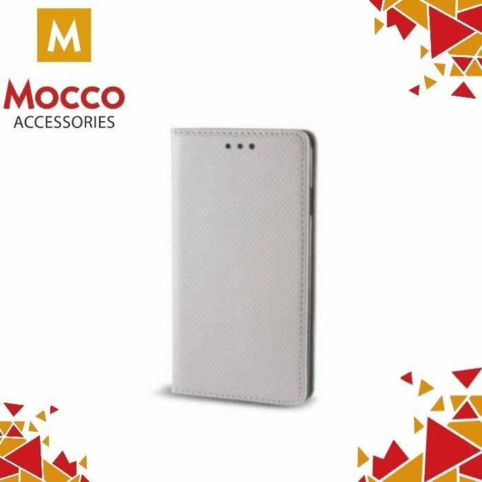 Mocco Smart Magnet Book Case Grāmatveida Maks Telefonam  LG M320 X power 2 Pelēks
