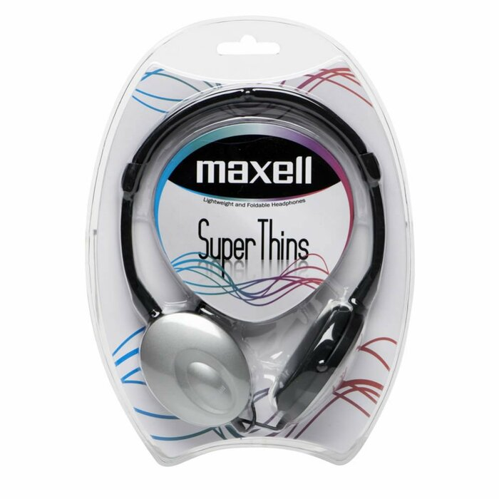 Maxell MXSSTL Super Thin Headset  Silver