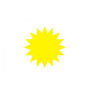 Atlaižu zvaigzne d 95mm dzeltena / oranža
