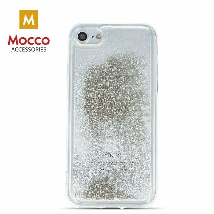Mocco Liquid Back Case Aizmugurējais Silikona Apvalks Priekš Apple iPhone 7 Plus / 8 Plus Caurspīdīgs - Sudrabs