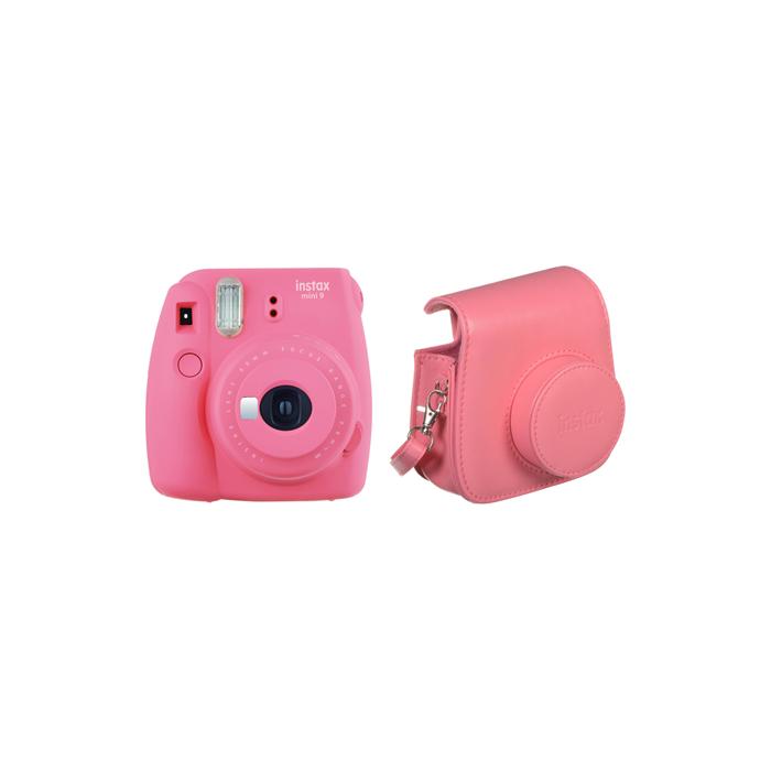 Fujifilm Instax Mini 9 + Instax mini glossy (10) + Camera Case Compact camera, Focus 0.6m - ∞, Flamingo Pink