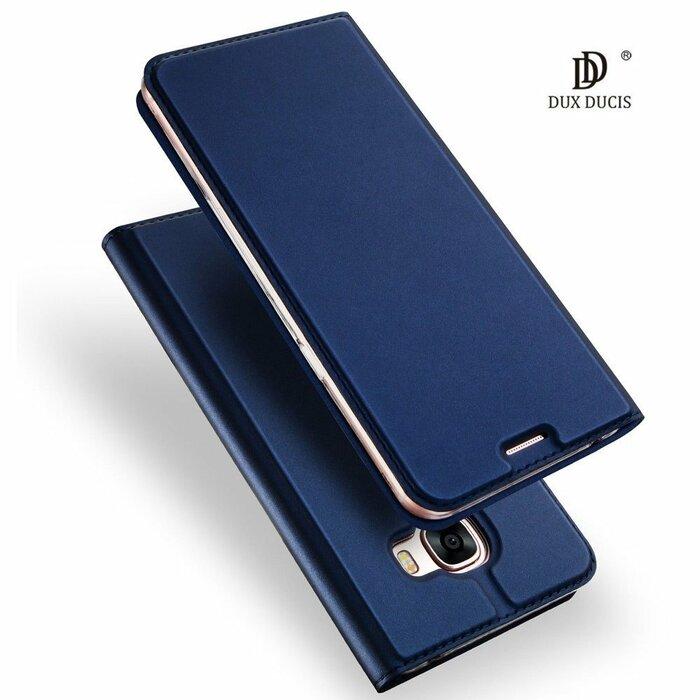 Dux Ducis Premium Magnet Case Grāmatveida Maks Telefonam Huawei Mate 10 Lite Zils
