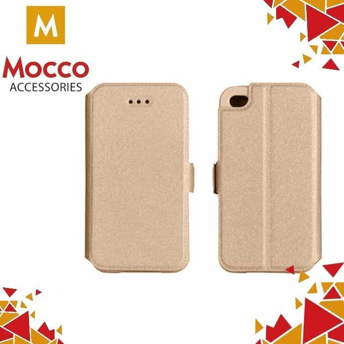 Mocco Shine Book Case Grāmatveida Maks Telefonam Huawei P10 Plus Zeltains
