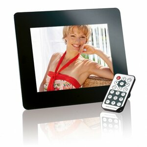 "Intenso 8"" MediaDirector digital photo frame Black 20.3 cm (8"")"
