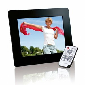 "Intenso Photo Base 8"" digital photo frame Black 20.3 cm (8"")"