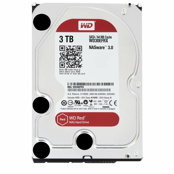 Western Digital Red internal hard drive HDD 3000 GB Serial ATA III