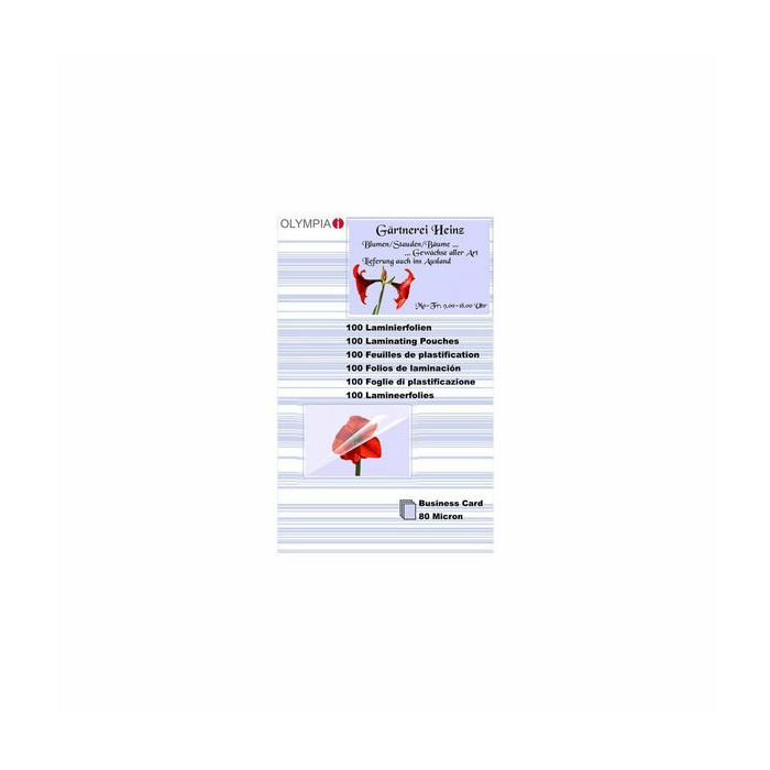 Business Cards-80mik.,100gab. / laminēšanas plēves